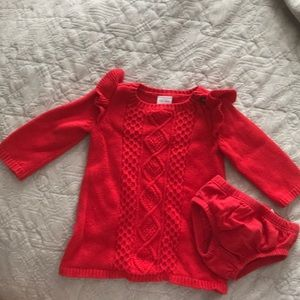 Newborn carters sweater dress